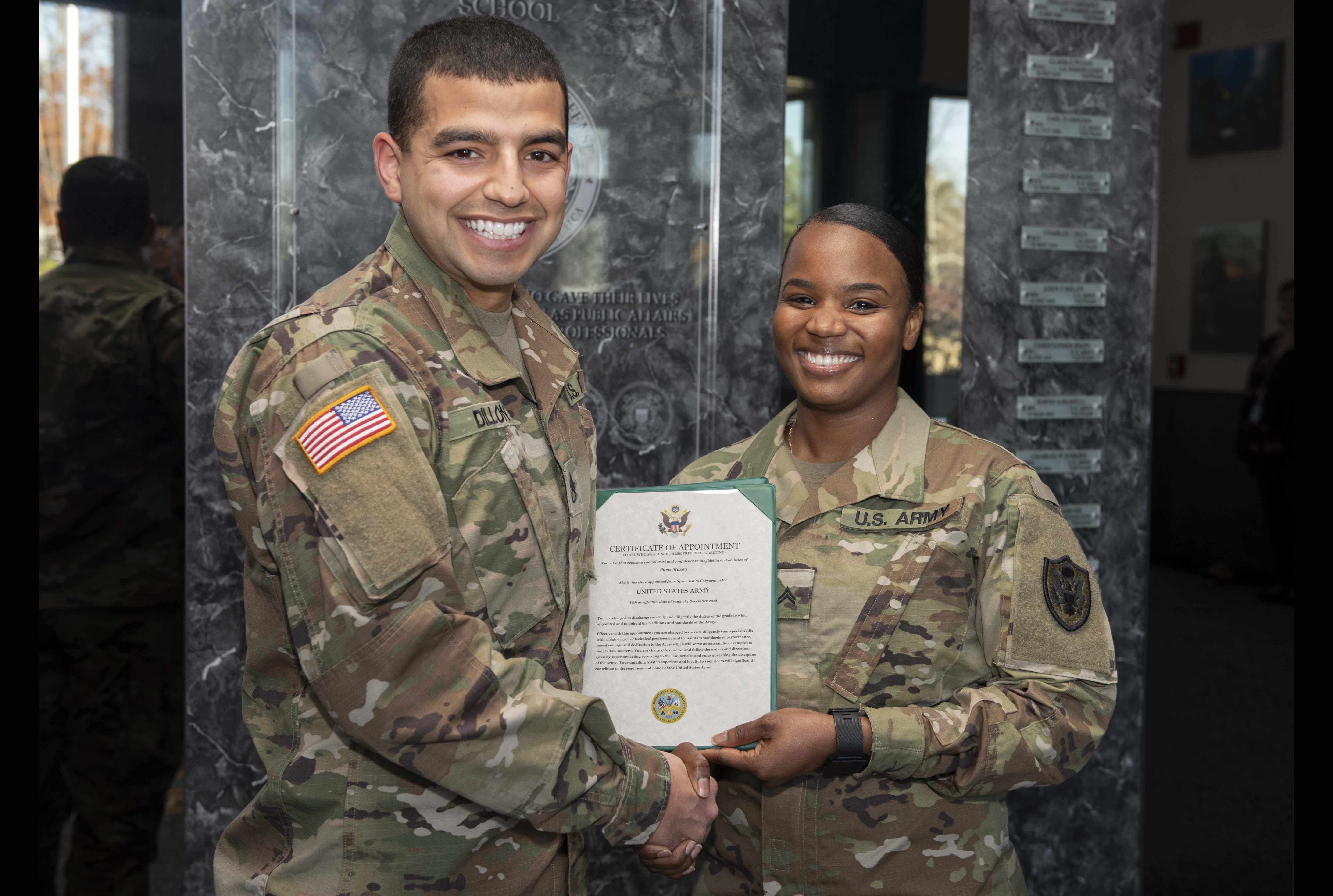 Congratulations Corporal Maxey