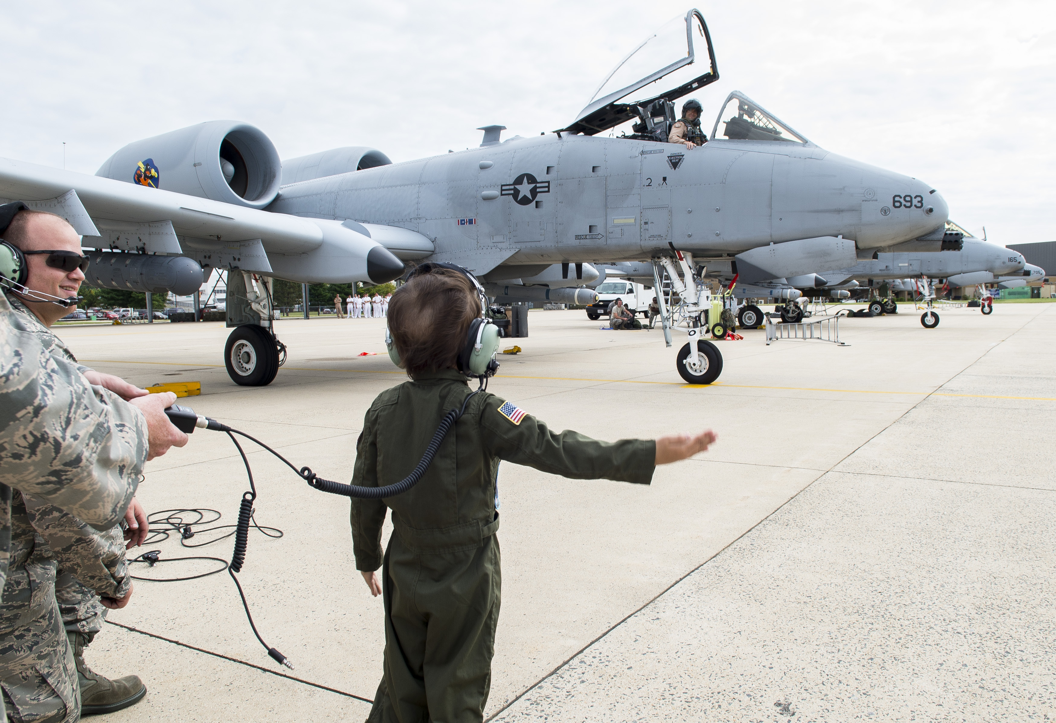 Wings for one brave child: 175th Wing Pilot for a Day
