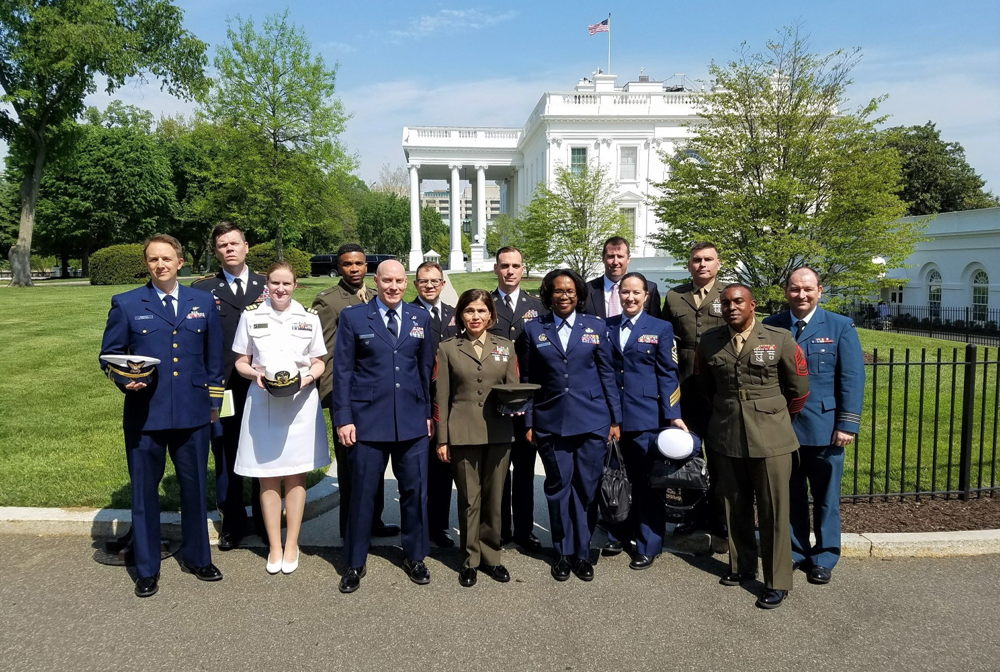 Joint Senior Public Affairs Course visits the White House